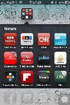 News app on iPhone 4